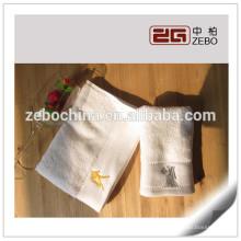 100% algodão bordado logotipo atacado qualidade do hotel toalhas toalha branca conjuntos