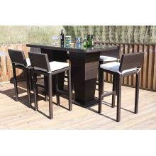 Rattan Bar Hocker Set Patio Outdoor-Wicker Gartenmöbel