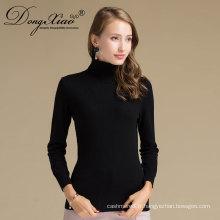 Pull tricoté plat de couleur noire d'OEM de mongol interne, chandail de pull simple sur Alibaba Ventes