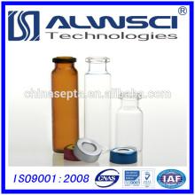 20ML Klare Durchstechflasche Headspace Durchstechflasche mit Durchstechflasche für GC
