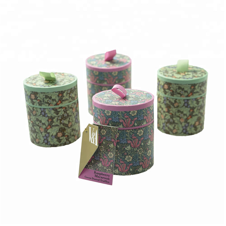 Round Cardboard Candle Gift Tube Box For Packing