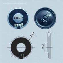 Unidade de alto-falante Mylar de diâmetro 40mm 8ohm 0.5W