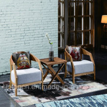 Wooden Hotel Furniture Set with Fabric Upholstery Chair and Square Table (SP-CT828)