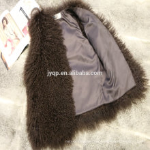 Tibetan Mongolian Lamb Fur Vest Many Colors