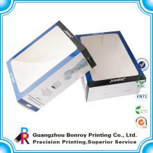 Пользовательские оптовая белая коробка окна упаковка для парфюмерии