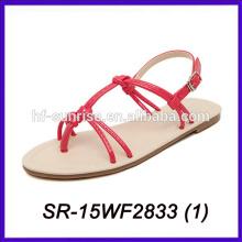 Sandalias al por mayor de las sandalias de la venta al por mayor de China para las imágenes de las señoras los últimos diseños de las sandalias de las señoras