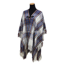 Fashion ladies plaid winter pashmina shoulder wrap scarf
