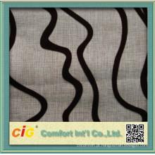 Tecido de design flocado para sofá Funiture