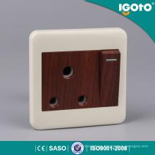3 * 3 Conector conmutado de color 15A de madera