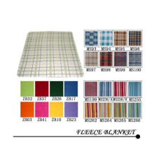 Polar Fleece Square und Check-Design-Decke