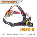 Maxtoch HE5Q-5 120 Lumens AAA Battery Zoom Hunting Led Headlight