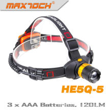 Maxtoch HE5Q-5 120 Lumens AAA Batterie Zoom chasse Led Headlight