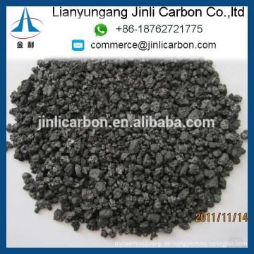 China hochwertige GPC schwefelarme Petrolkoks FC98.5% 1-5mm für Gießerei und Stahlherstellung