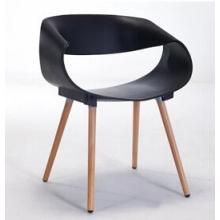 PP Kunststoff-Stuhl mit Buche Holz Beine