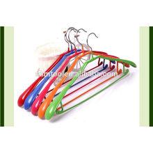 PVC coat hanger metal wire PVC coated metal colourful hangers
