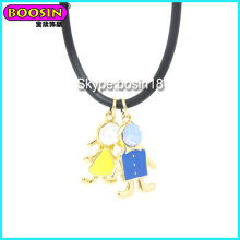 Fashionable Cute Enamel Metal Boy Charm Necklace