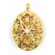 Moda ouro chapeamento de aço inoxidável perfume Locket jóias pingente