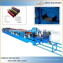 C Secção Purlin Cold Roll formando máquina