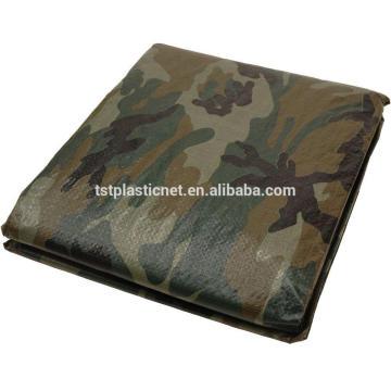 polyethylene rainproof camping camouflage tarpaulin sheet supplier