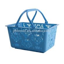 Variedades ampliadas Moldes modificados para requisitos particulares de la cesta del supermercado del pequeño molde del plástico