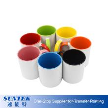 11oz Sublimation Mug with Colorful Inside and Handle Three Tone Sublimation Photo Mug