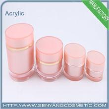2015 neue Großhandel Kosmetikflaschen Silber Lotion Acryl Flaschen für Kosmetik