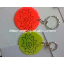 Промоушн Светоотражающая цепочка ключей, Мягкая цепочка ключей из ПВХ Custom,, Отражающая наклейка Craft Custom