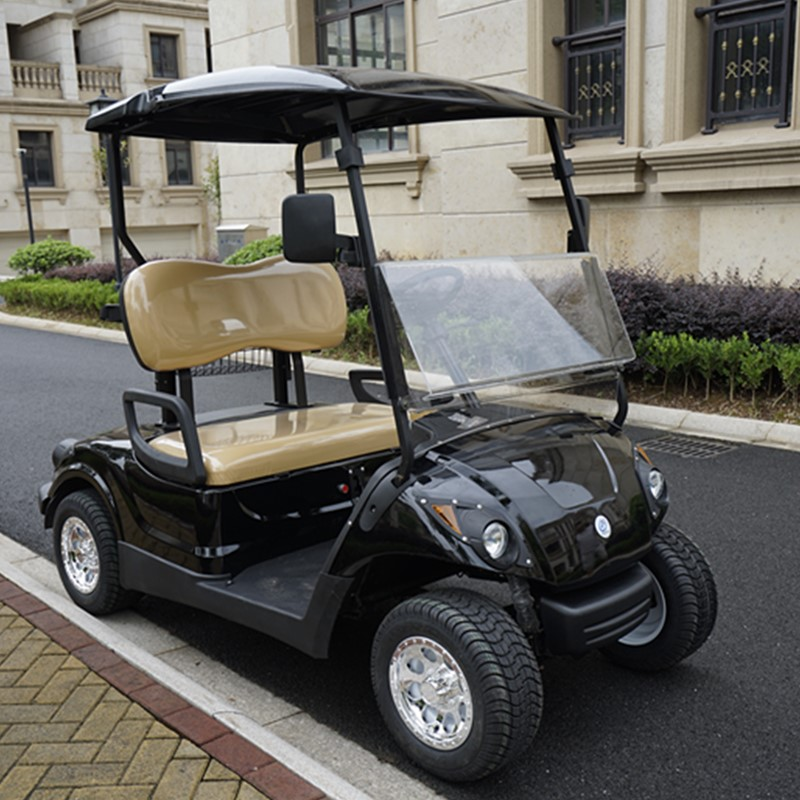 black golf cart
