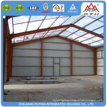 Easy to install glass wool insulation prefabricated steel structure workshop house building