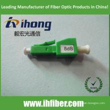 LC APC Male at Female atenuador de fibra ótica 8dB