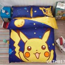 Pikachu Kinder Bettwäsche-Sets mit reinem Baumwolldruck
