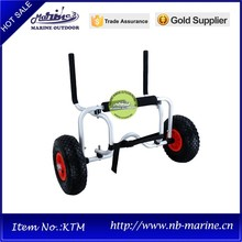 Aluminum beach cart, trolley for sit-on-top kayak, High quality canoe carrier