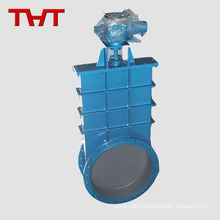 round steel slide 8 inch motorized chain operated gate valve