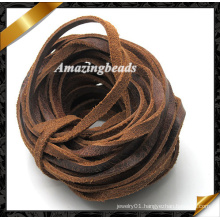 Leather Wire, 4mm Jewelry Wire, Jewelry Leather Cord, Braided Leather Cord, Bracelet Leather Cord, Real Leather Cord (RF051)