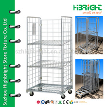 commercial vintage folding shopping laudry trolley cart