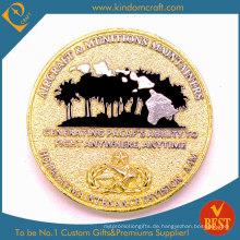 Benutzerdefinierte Gold 3D Erosion Souvenir Herausforderung Metallmünzen (LN-078)