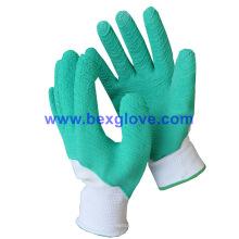 Guante de trabajo de látex de color, guante de jardín