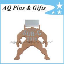 Medalha de revestimento de cobre com fita branca