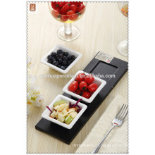 new design wholesale ceramic dishes with tray