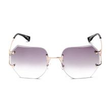 kl1603 moda mujer gafas de sol rosa vintage de gran tamaño sin montura gafas