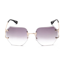 kl1603 fashion women sunglasses pink vintage oversize rimless glasses