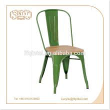 Silla de metal de alta calidad vintage / silla de asiento de madera