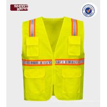 Oi vis workwear colete reflector de segurança para estrada