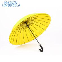 Китайский Импорт Оптовая гостинице двойного использования авто открыть хороший дешевый изготовленный на заказ печатать дождь желтый зонтик 24 ребра для Выдвиженческого подарка