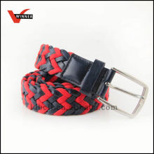Eco-friendly braided leather rope belt
