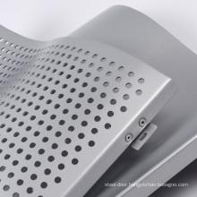 Aluminium Double Curved Panel alumium panels bent perforated sheet for claddingfacade curtain wall