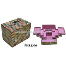 fashional PVC Make-up Ledertaschen mit 4 Schubladen im Inneren
