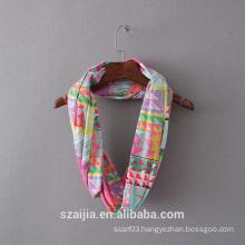 Ladies print knitted infinity scarf