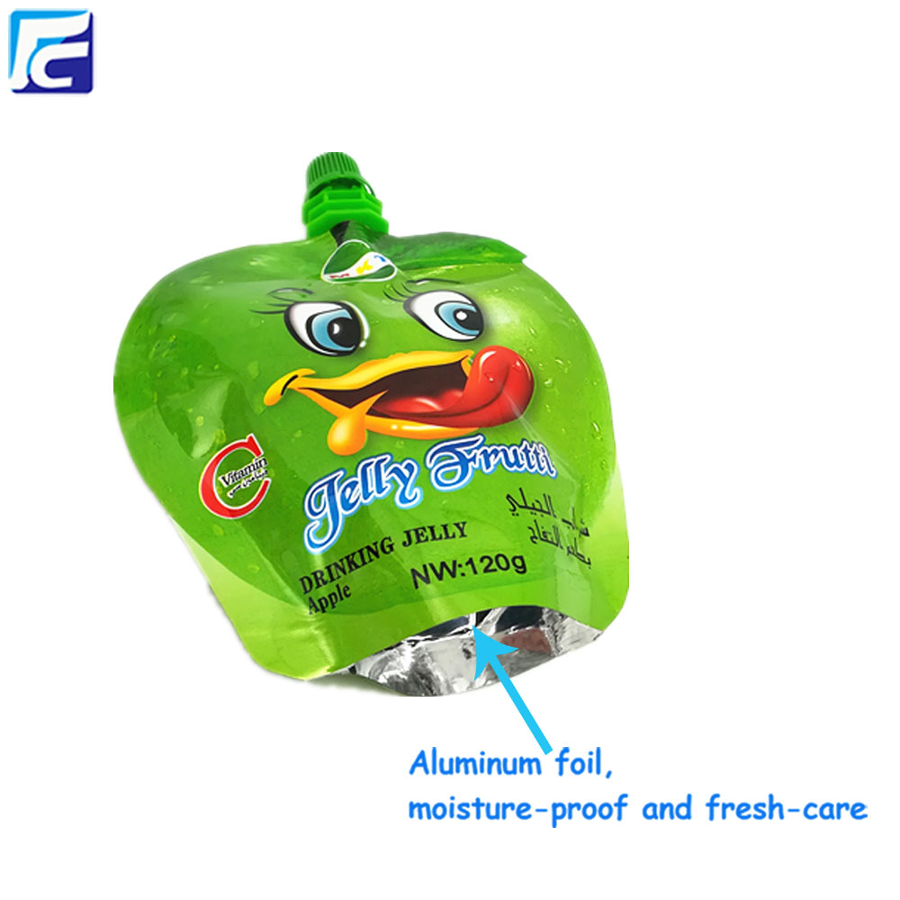 juice plastic bag with spout