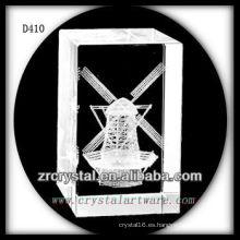 K9 3D Laser Subsurface Windwill Rectángulo interior de cristal